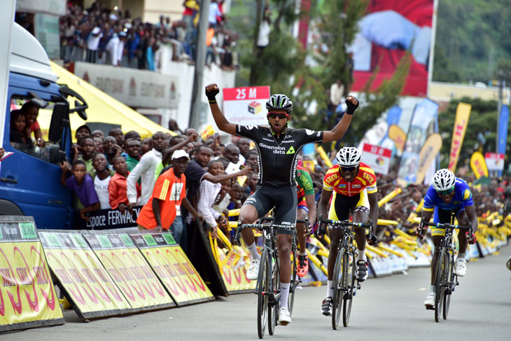 EYOB Metkel (Dimension Data) won the fifth stage of the Tour du Rwanda