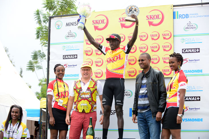 Valens Ndayisenga (Dimension Data) won the penultimate stage from Musanze to Kigali